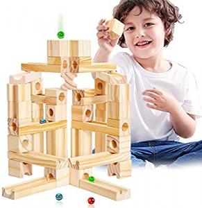 Joc de Construit din Lemn Circuit cu Bile - Joc lemn Marbel Run Onshine3
