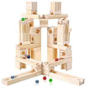 Joc de Construit din Lemn Circuit cu Bile - Joc lemn Marbel Run Onshine4