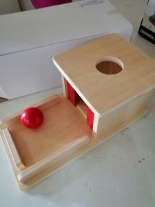 Joc de Lemn Montessori Cutia Permanentei cu bila7