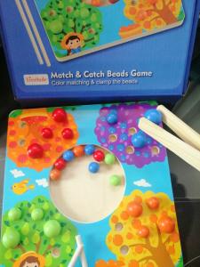 Joc de Lemn Montessori Sortator culori Pomul Fructifer5