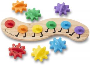 Joc din lemn cu Angrenaje multicolore Melissa and Doug3