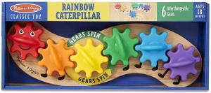 Joc din lemn cu Angrenaje multicolore Melissa and Doug1