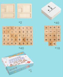 Joc din Lemn Montessori Cifre invatam matematica [5]