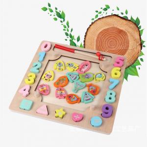 Joc din Lemn Montessori Sortator Culori 4 in 1 - Joc de Pescuit,Cifre, Forme geometrice15