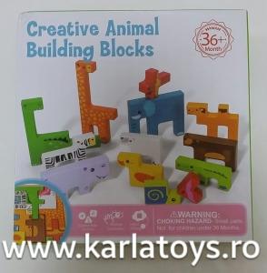 Joc din lemn tetris cu animale 3D3