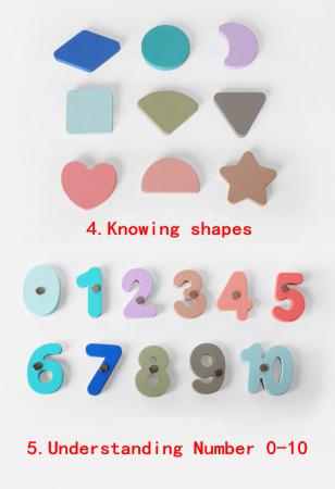 Joc din lemn Tetris si Tangram 5 in 16