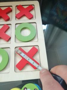 Joc Din Lemn X si 0 si Sudoku - Joc Lemn 2 in 1 x si 08