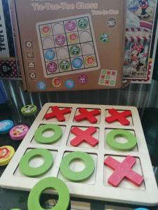 Joc Din Lemn X si 0 si Sudoku - Joc Lemn 2 in 1 x si 05