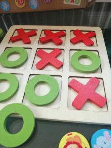Joc Din Lemn X si 0 si Sudoku - Joc Lemn 2 in 1 x si 07