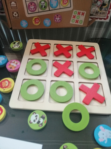 Joc Din Lemn X si 0 si Sudoku - Joc Lemn 2 in 1 x si 04