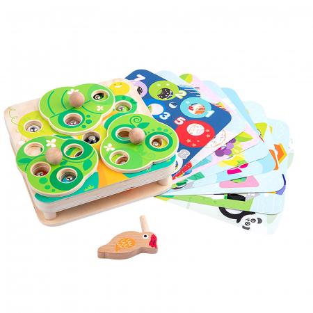 Joc Educativ Montessori Ciocanitoare Joc magnetic dexteritate din lemn Joc Educativ Montessori Ciocanitoare Joc magnetic dexteritate din lemn [1]