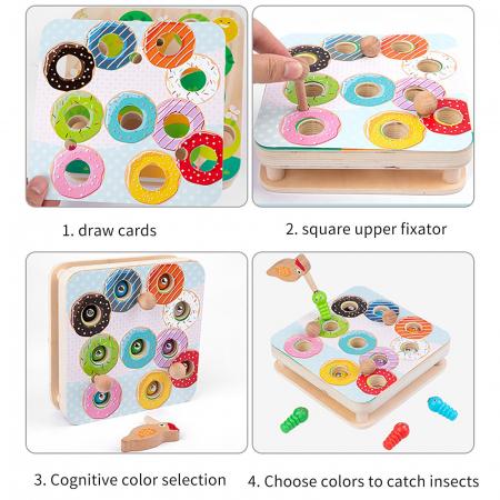 Joc Educativ Montessori Ciocanitoare Joc magnetic dexteritate din lemn Joc Educativ Montessori Ciocanitoare Joc magnetic dexteritate din lemn [6]