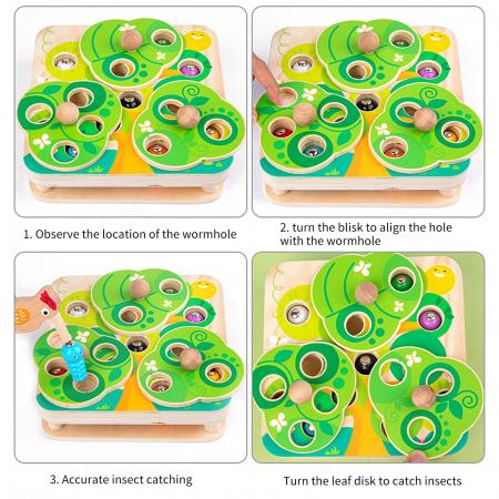 Joc Educativ Montessori Ciocanitoare Joc magnetic dexteritate din lemn Joc Educativ Montessori Ciocanitoare Joc magnetic dexteritate din lemn [7]