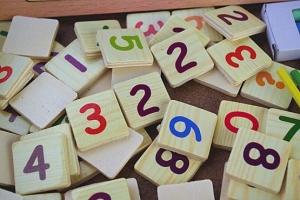 Set educational din lemn matematica 3 in 17