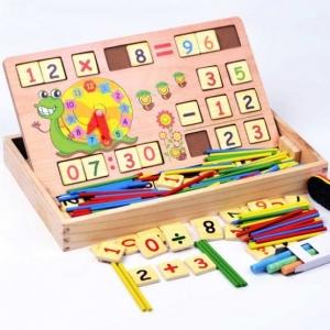 Set educational din lemn matematica 3 in 11