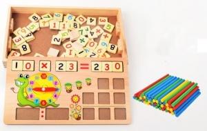 Set educational din lemn matematica 3 in 14