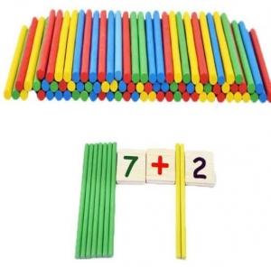 Set educational din lemn matematica 3 in 15