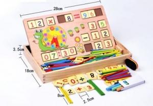 Set educational din lemn matematica 3 in 10