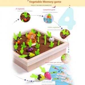 Joc lemn Memorie Gradina cu Legume - Joc Montessori din Lemn Gradina cu Legume7