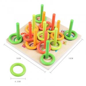 Joc din lemn interactiv de aruncat la tinta Aruncarea inelului7