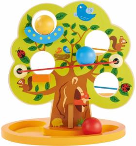 Joc Lemn Copacul cu Bile - Joc din Lemn Pista cu Bile0