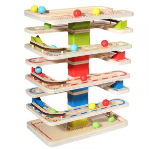 Joc Lemn interactiv Circuit cu Bile13