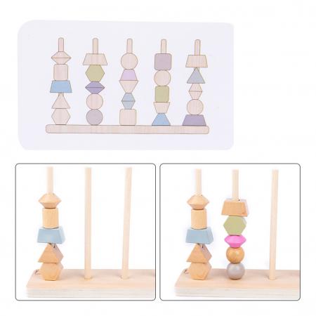 Joc Lemn Montessori Potrivire Forme si culori [2]