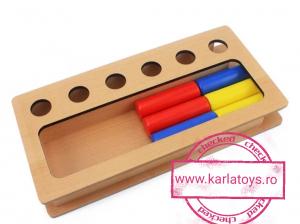 Joc Lemn Montessorii Sortator Peg Box - Joc Lemn Sortator Pioni.3