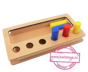 Joc Lemn Montessorii Sortator Peg Box - Joc Lemn Sortator Pioni.4