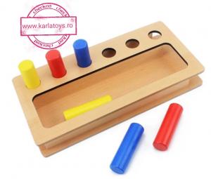 Joc Lemn Montessorii Sortator Peg Box - Joc Lemn Sortator Pioni.1