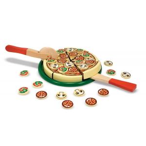 Joc lemn Pizza Party 54 de piese Melissa and Doug1