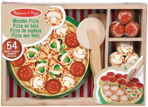 Joc lemn Pizza Party 54 de piese Melissa and Doug0