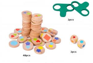 Joc lemn montessori puzzle potrivire forme9