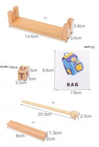 Joc Montessori din lemn Alfabetul 3D si carduri cuvinte in limba engleza6