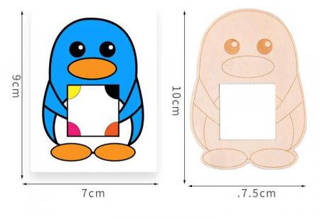 Joc Montessori Educativ din lemn Potrivire culori Pinguinul [4]