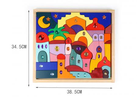 Joc Montessori set constructie Casa Orient 52 de piese5