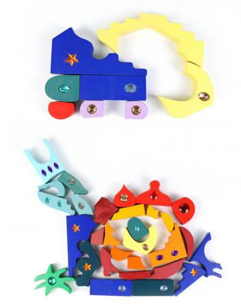 Joc Montessori set constructie Casa Orient 52 de piese1