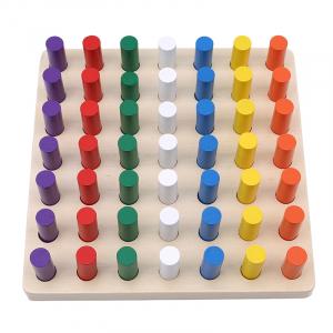 Joc Montessori din lemn senzorial invatam culorile Stick Color [4]