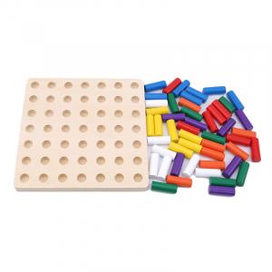 Joc Montessori din lemn senzorial invatam culorile Stick Color [3]