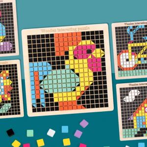 Joc din lemn mozaic din lemn Puzzle mozaic 370 de piese11