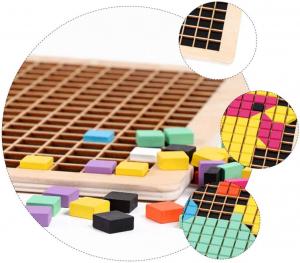 Joc din lemn mozaic din lemn Puzzle mozaic 370 de piese7