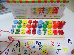 Joc  din Lemn numere 5 in 1 - Joc Lemn Operati matematice -Joc piese lemn3
