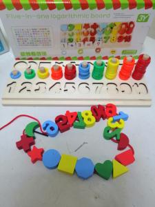 Joc  din Lemn numere 5 in 1 - Joc Lemn Operati matematice -Joc piese lemn1
