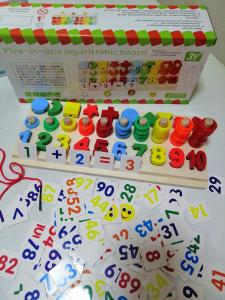 Joc  din Lemn numere 5 in 1 - Joc Lemn Operati matematice -Joc piese lemn6