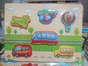 Joc Puzzle  din Lemn 3D Vehicole1