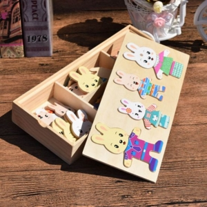 Joc puzzle sa imbracam iepurasul sau ursuletii [2]