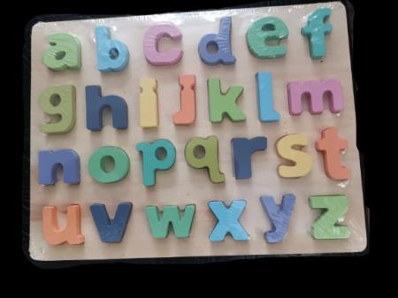Joc puzzle Litere mici din lemn0