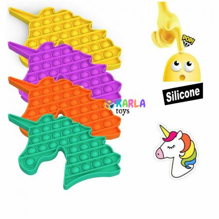 Joc senzorial Pop It Jucarie Push Pop Bubble fidget Unicorn cu bila0