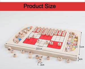 Joc din Lemn Sudoku 4 in 1 - Joc Sudoku Multifuctional din lemn8