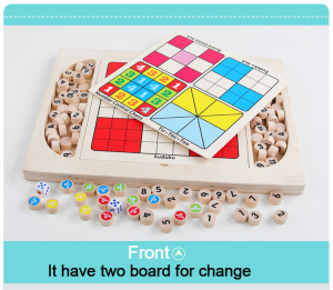 Joc din Lemn Sudoku 4 in 1 - Joc Sudoku Multifuctional din lemn0